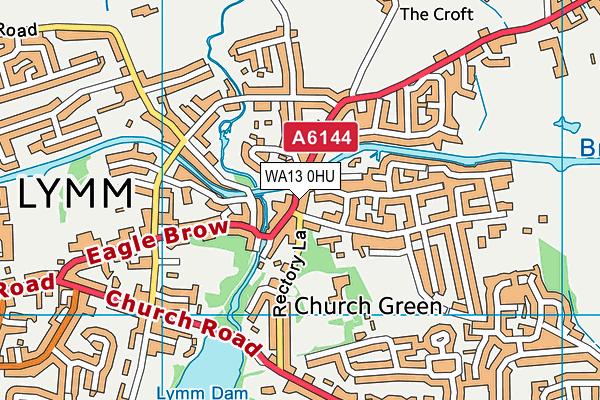 WA13 0HU map - OS VectorMap District (Ordnance Survey)