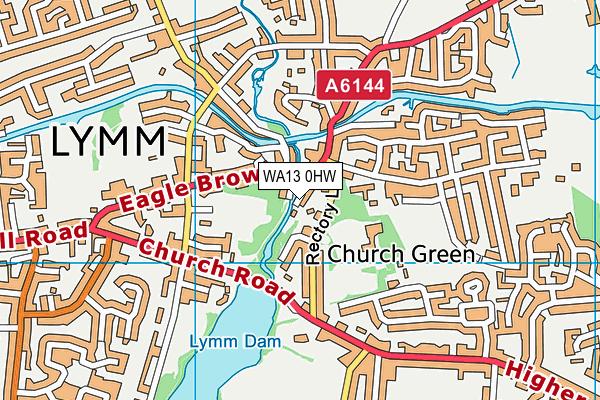 WA13 0HW map - OS VectorMap District (Ordnance Survey)