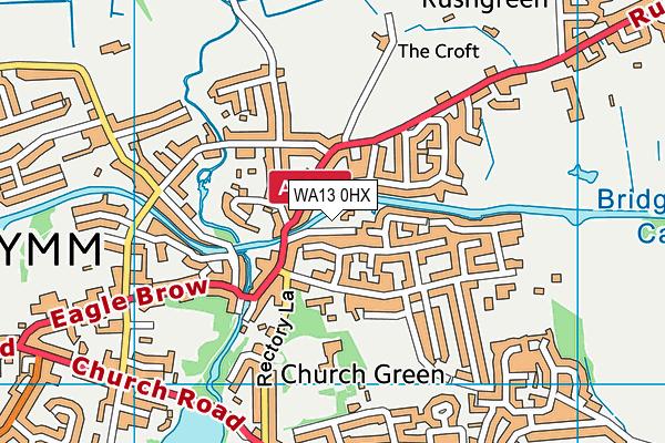 WA13 0HX map - OS VectorMap District (Ordnance Survey)