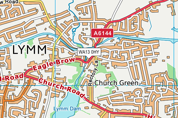 WA13 0HY map - OS VectorMap District (Ordnance Survey)