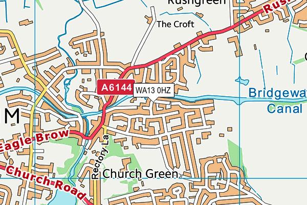 WA13 0HZ map - OS VectorMap District (Ordnance Survey)