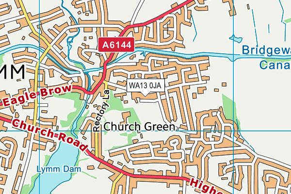 WA13 0JA map - OS VectorMap District (Ordnance Survey)