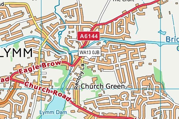 WA13 0JB map - OS VectorMap District (Ordnance Survey)