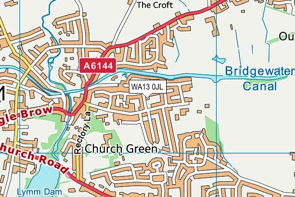 WA13 0JL map - OS VectorMap District (Ordnance Survey)