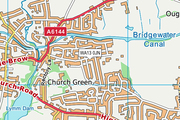 WA13 0JN map - OS VectorMap District (Ordnance Survey)
