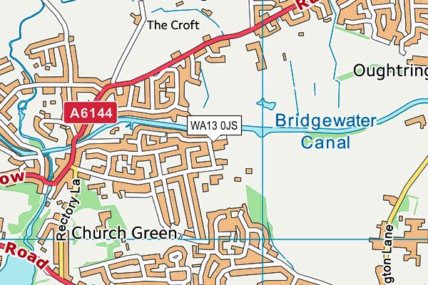 WA13 0JS map - OS VectorMap District (Ordnance Survey)