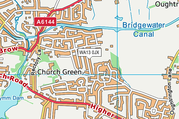 WA13 0JX map - OS VectorMap District (Ordnance Survey)