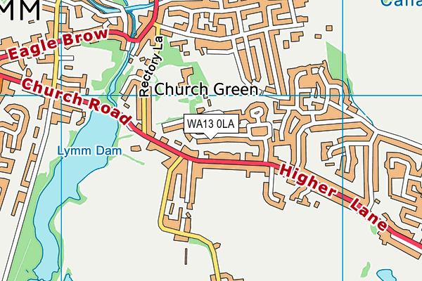 WA13 0LA map - OS VectorMap District (Ordnance Survey)