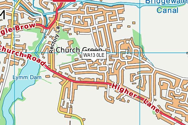 WA13 0LE map - OS VectorMap District (Ordnance Survey)
