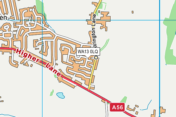 WA13 0LQ map - OS VectorMap District (Ordnance Survey)