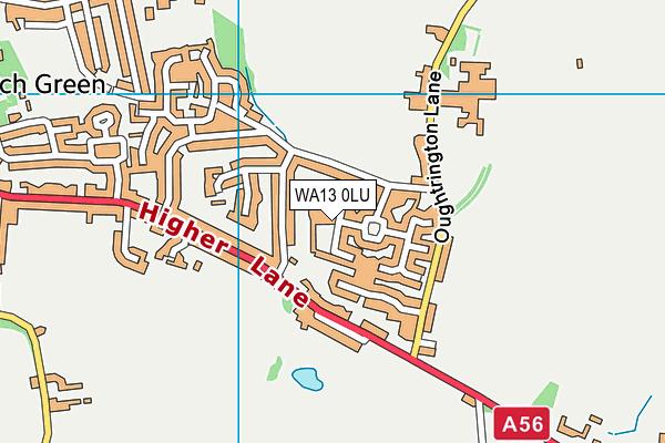 WA13 0LU map - OS VectorMap District (Ordnance Survey)