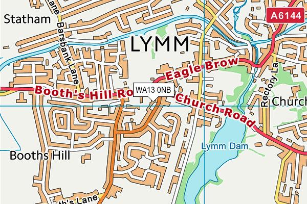 WA13 0NB map - OS VectorMap District (Ordnance Survey)