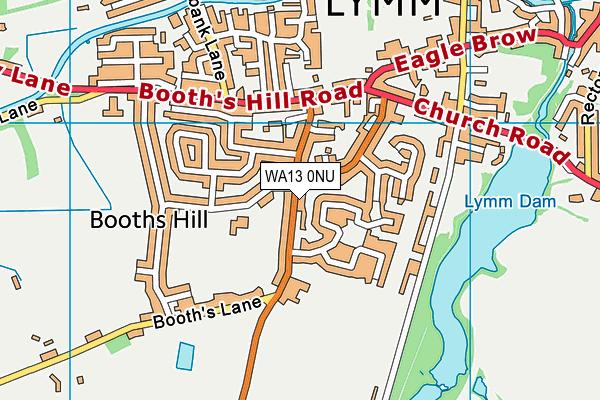 WA13 0NU map - OS VectorMap District (Ordnance Survey)