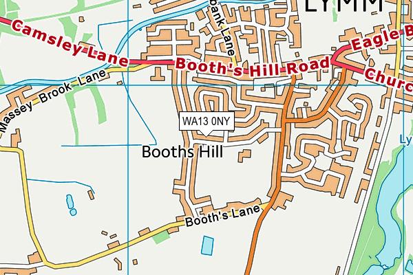 WA13 0NY map - OS VectorMap District (Ordnance Survey)