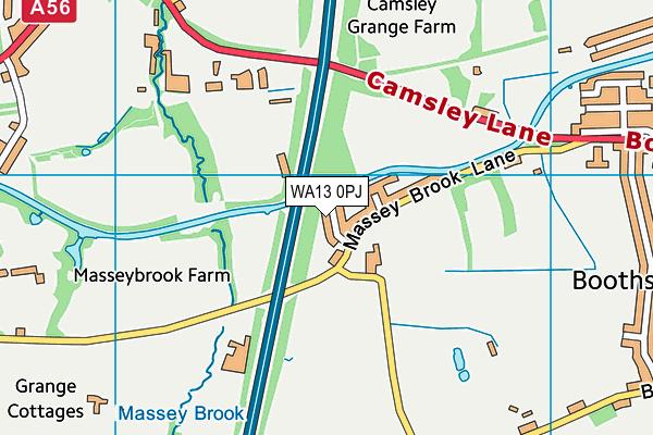 WA13 0PJ map - OS VectorMap District (Ordnance Survey)