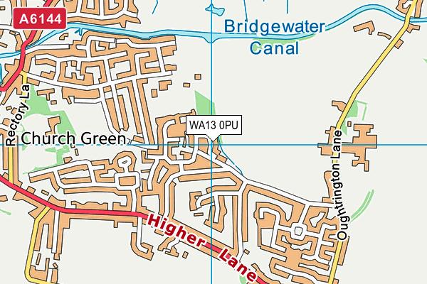 WA13 0PU map - OS VectorMap District (Ordnance Survey)