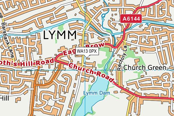 Lymm Lawn Tennis Club map (WA13 0PX) - OS VectorMap District (Ordnance Survey)