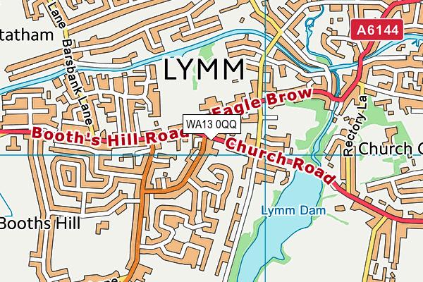 WA13 0QQ map - OS VectorMap District (Ordnance Survey)