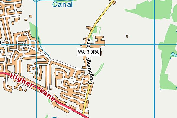 Lymm Oughtrington Park Cricket Club map (WA13 0RA) - OS VectorMap District (Ordnance Survey)