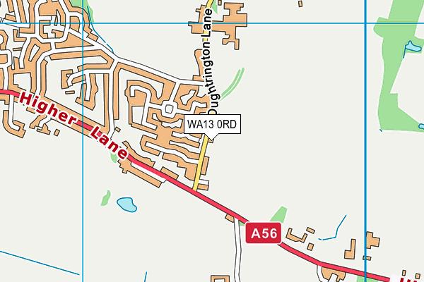 WA13 0RD map - OS VectorMap District (Ordnance Survey)