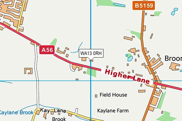 WA13 0RH map - OS VectorMap District (Ordnance Survey)