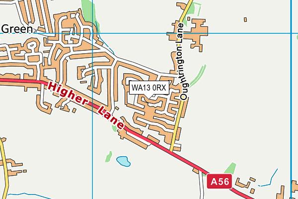 WA13 0RX map - OS VectorMap District (Ordnance Survey)