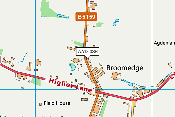 WA13 0SH map - OS VectorMap District (Ordnance Survey)