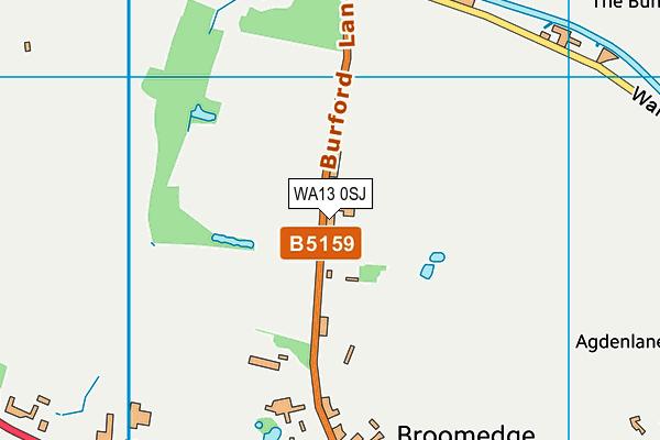 WA13 0SJ map - OS VectorMap District (Ordnance Survey)