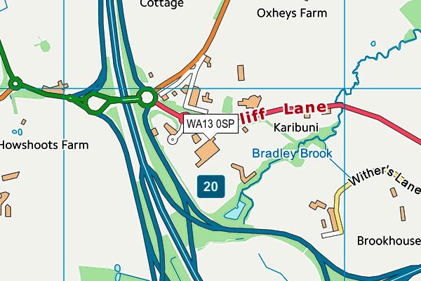 WA13 0SP map - OS VectorMap District (Ordnance Survey)