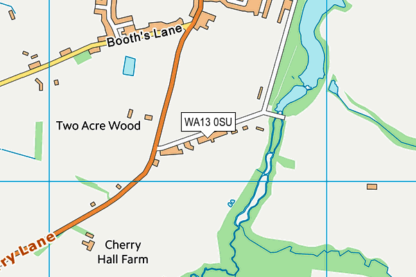 WA13 0SU map - OS VectorMap District (Ordnance Survey)