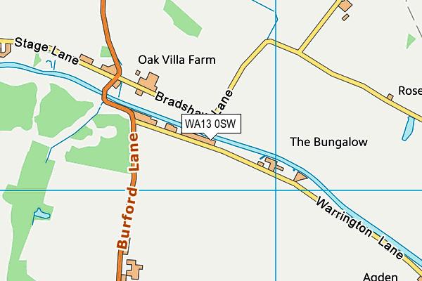 WA13 0SW map - OS VectorMap District (Ordnance Survey)