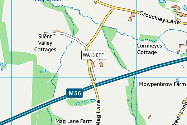 WA13 0TF map - OS VectorMap District (Ordnance Survey)
