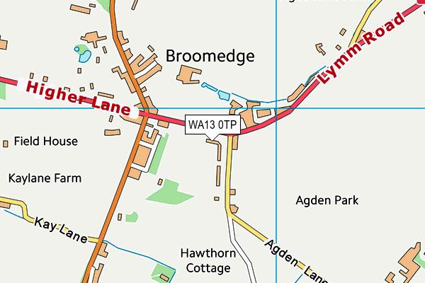 WA13 0TP map - OS VectorMap District (Ordnance Survey)