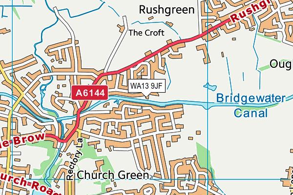 WA13 9JF map - OS VectorMap District (Ordnance Survey)