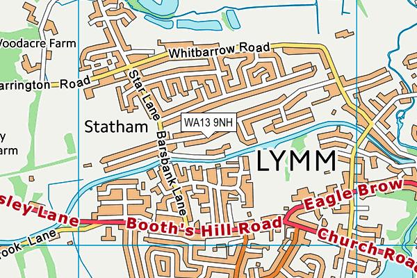 WA13 9NH map - OS VectorMap District (Ordnance Survey)