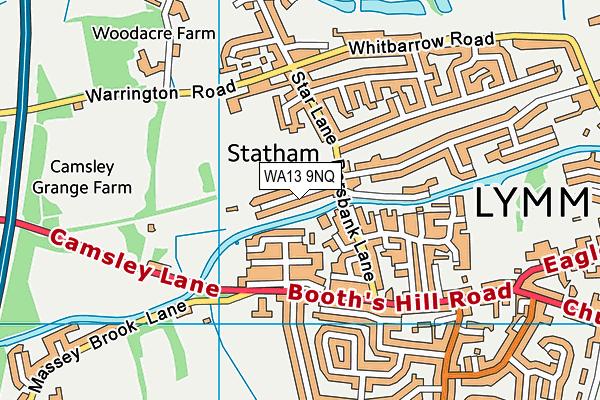 WA13 9NQ map - OS VectorMap District (Ordnance Survey)