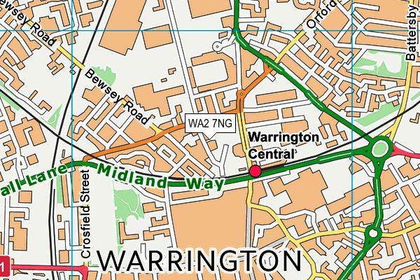UTC Warrington map (WA2 7NG) - OS VectorMap District (Ordnance Survey)
