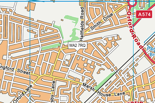 Beamont Community Primary School map (WA2 7RQ) - OS VectorMap District (Ordnance Survey)