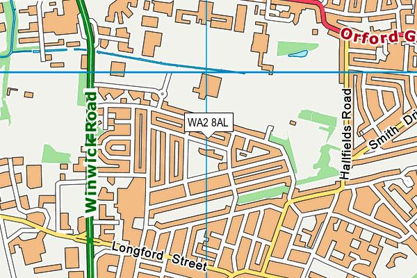 Warrington St Ann's CofE Primary School map (WA2 8AL) - OS VectorMap District (Ordnance Survey)