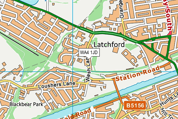Our Lady's Catholic Primary School map (WA4 1JD) - OS VectorMap District (Ordnance Survey)