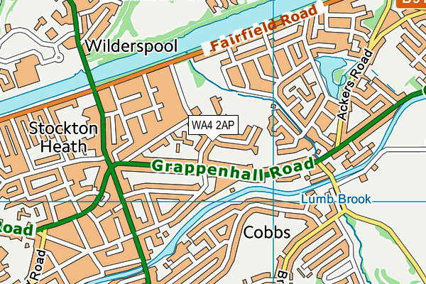 WA4 2AP map - OS VectorMap District (Ordnance Survey)