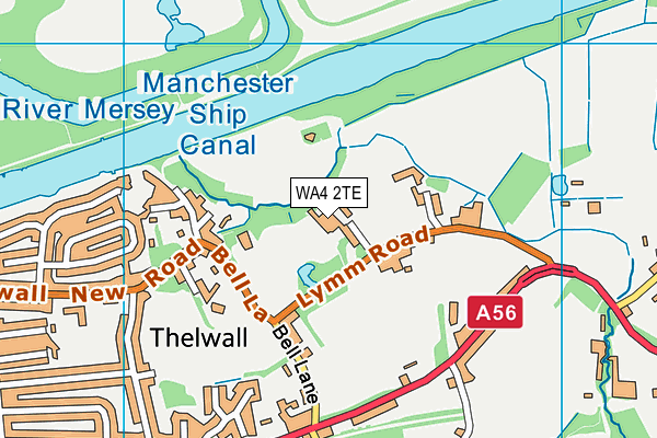 Chaigeley School map (WA4 2TE) - OS VectorMap District (Ordnance Survey)