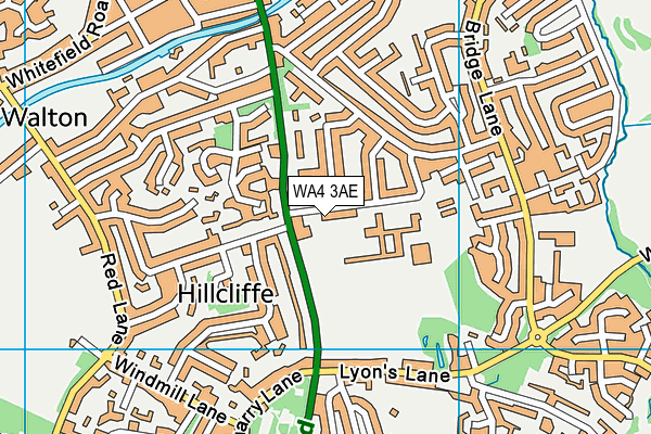 Bridgewater High School map (WA4 3AE) - OS VectorMap District (Ordnance Survey)