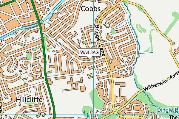 St Monica's Catholic Primary School map (WA4 3AG) - OS VectorMap District (Ordnance Survey)