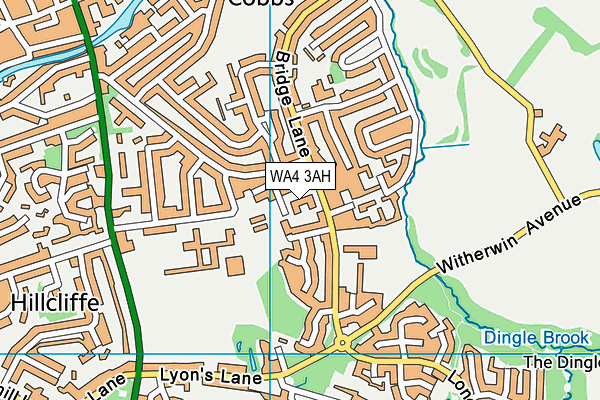 Broomfields Junior School map (WA4 3AH) - OS VectorMap District (Ordnance Survey)