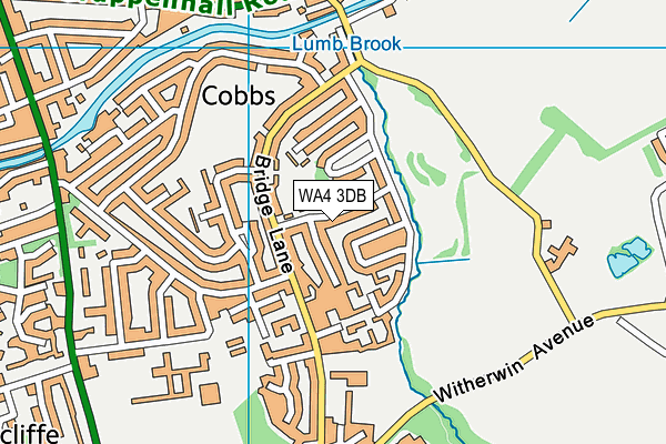 The Cobbs Infant and Nursery School map (WA4 3DB) - OS VectorMap District (Ordnance Survey)