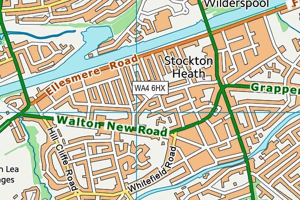 WA4 6HX map - OS VectorMap District (Ordnance Survey)