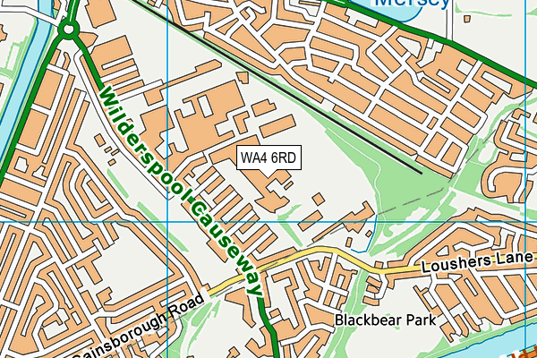 Priestley College map (WA4 6RD) - OS VectorMap District (Ordnance Survey)