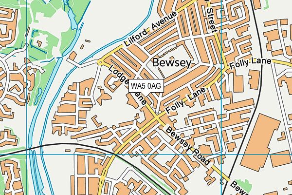 Bewsey Lodge Primary School map (WA5 0AG) - OS VectorMap District (Ordnance Survey)