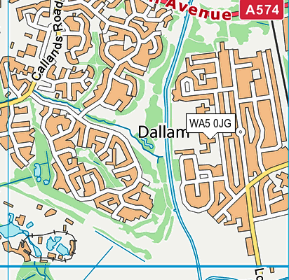 Dallam Community Primary School map (WA5 0JG) - OS VectorMap District (Ordnance Survey)